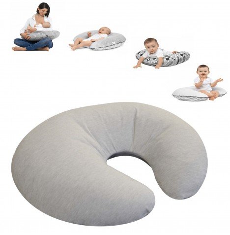 4baby Deluxe 4 in 1 Nursing / Pregnancy Pillow / Cushion - Pebble Grey